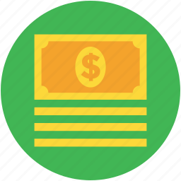 banknotes, cash, cash flow, currency, dollar, money icon