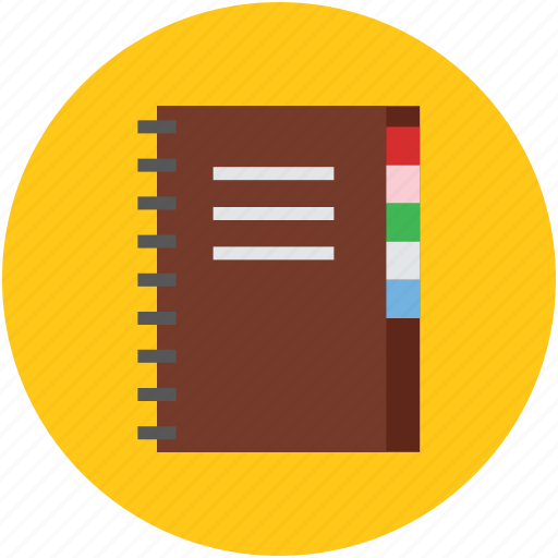 black, diary, notebook, notepad, reminder, stationery icon