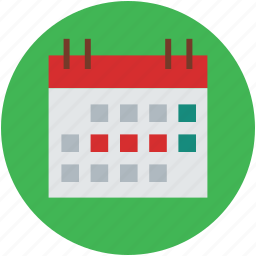 calendar, date, day, event, schedule, yearbook icon