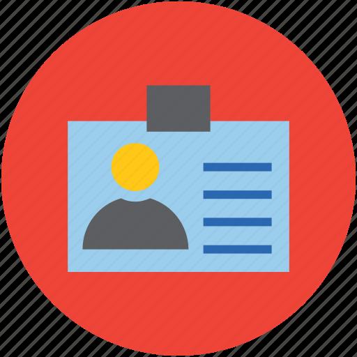 id, id badge, id card, identification, identity icon