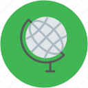 destination, earth, globe, map, table, world icon