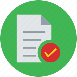 accept, checkmark, confirm, confirmed, correct, data, document icon