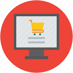 cart, computer, display, ecommerce, internet, marketplace, online, shop icon