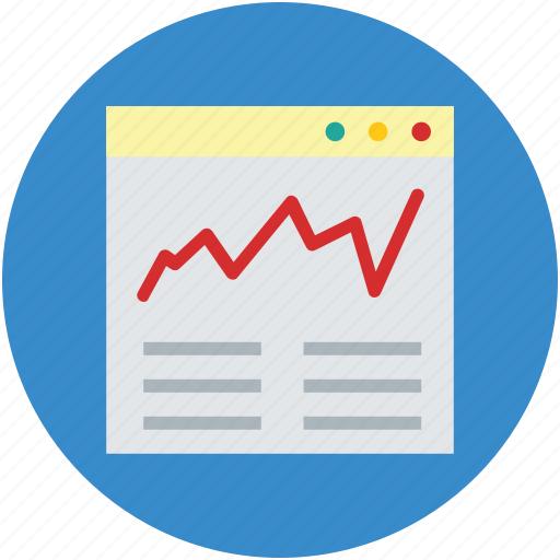application, browser, chart, graph, online, page, web icon