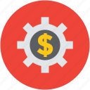 concept, economy, gear, indication, mark, money, sign icon