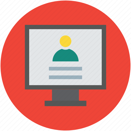 Avatar, display, internet, media, monitor, online, person icon - Download on Iconfinder