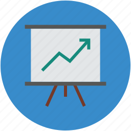 chart, conference, easel, graph, presentation, projector icon