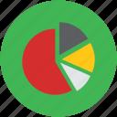 chart, digital, graphic, infographic, piechart icon