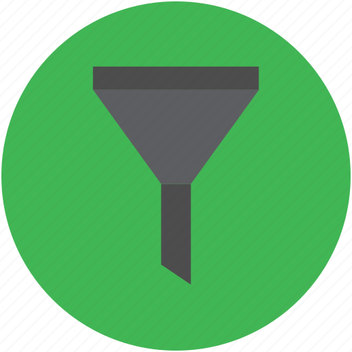 filter, filtering, funnel, object, sign icon