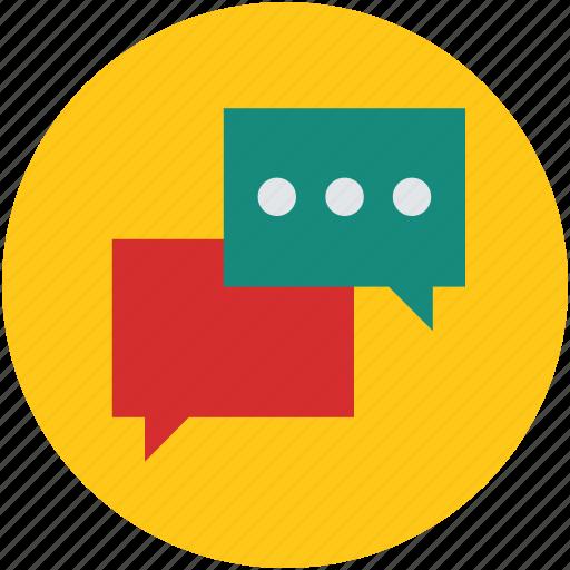 boxes, chat, communicate, communication, conversation, speech, talk, talking icon