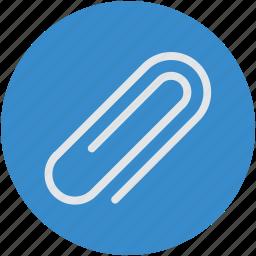 attach, attachment, bind, clamp, clip, memo, paper clip icon