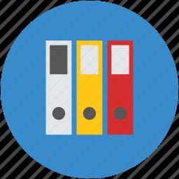 collection, file, folder, pile, row, shelf icon