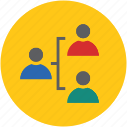 business, connection, corporate, hierarchy, human, people, sign, workforce icon