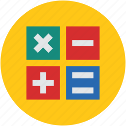 addition, calculation, cross, equal, math, multiply, plus, remove, signs, subtraction icon