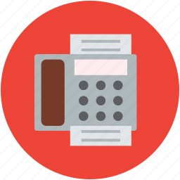 document, electrical, fax, message, phone, printer, telecommunication icon