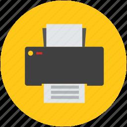 fax, inkjet, machine, print, printer, technology icon