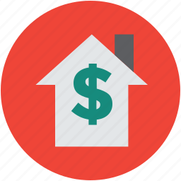 dollar, estate, finance, home, house, inside, insurance, real, sign, symbol icon