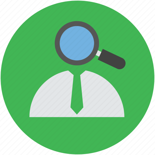 candidate, glass, inspect, magnify, searching, seeker, talent, view icon