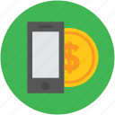 business, coin, currency, dollar, finance, investment, mobile, online icon