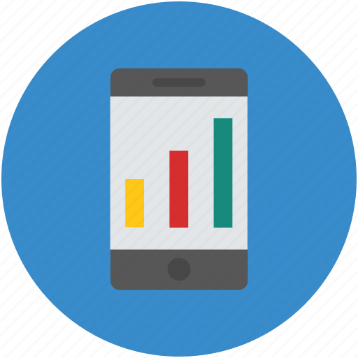 business, chart, concept, graph, mobile, online, screen icon