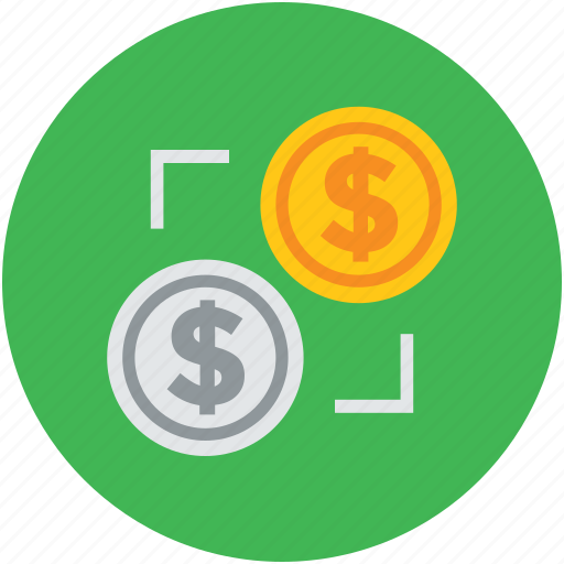 coins, concept, currency, dollar, finance, transform icon