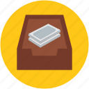 bank, cash, currency, drawer, finance, money, savings icon