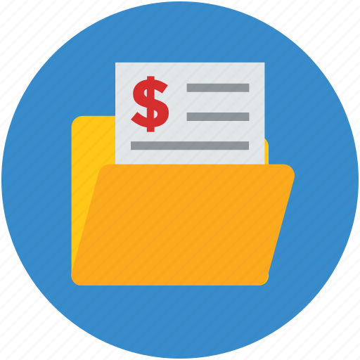 billing folder, c archive, data, folder, invoice, opened icon