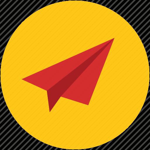 aerodynamic, concept, freedom, idea, origami, paper, plane, travel icon