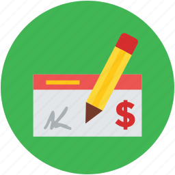 bill, credit, financial, invoice, receipt, signing, slip, transaction icon