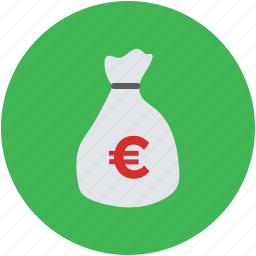 euro, finance, investment, money, pouch, sack, saving, sign icon