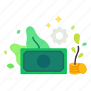 business, coins, financial, management, money, saving, wealth icon