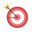 aim, arrow, center, goal, marketing, success, target