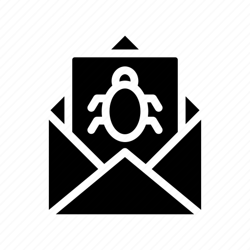 bug, mail, malware, thread, virus icon