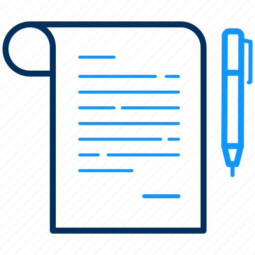 document, notes, writing icon