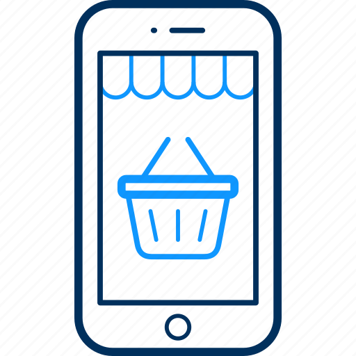 app, basket, buy, mobile, shoppping icon