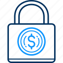 dollar, lock icon
