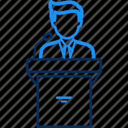 business, conversation, man, speech icon