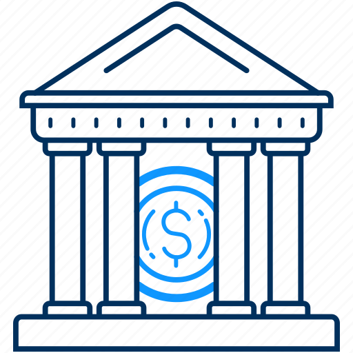bank, institution icon