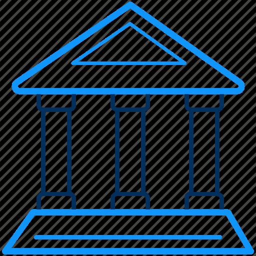 bank, building, institution, treasury icon