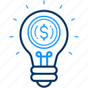ideas, money icon