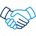 handshake, meeting, partnership icon