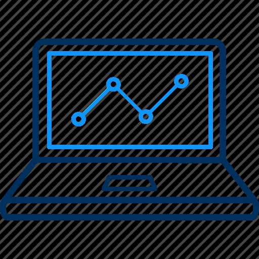 business, laptop, presentation icon