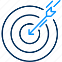 aim, archery, goal, shooting, success icon