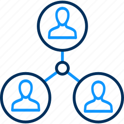 circle, hierarchy, work icon