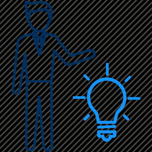 business, finance, idea icon