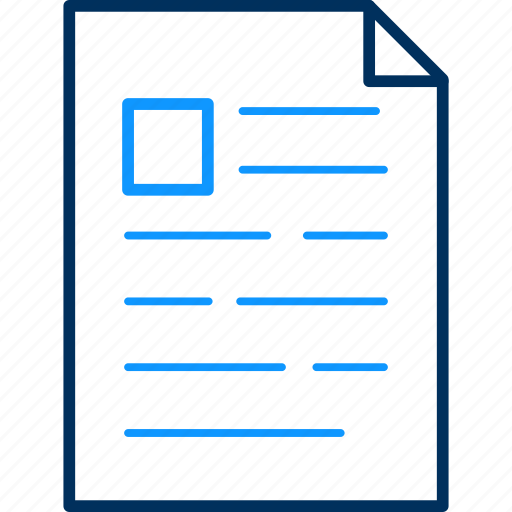 document, format, paper, text icon