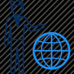 earth, global, international, internet, web, world icon