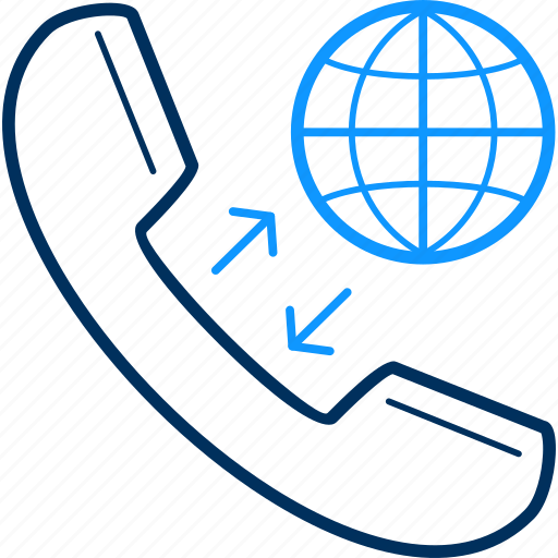 abroad, telephone icon