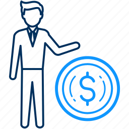 dollar, finance, human, money icon