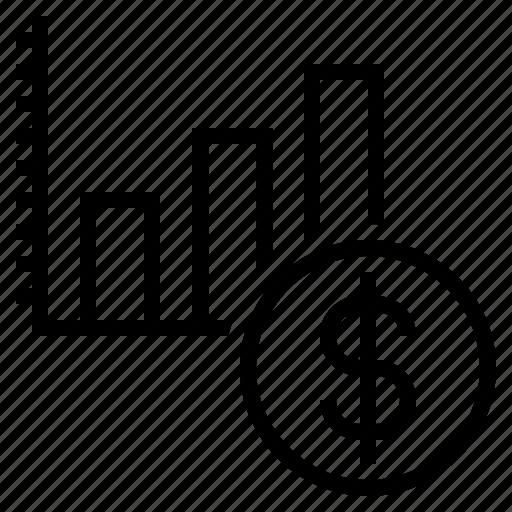 bar graph, graph, increase, increase profit, more profit, profit icon